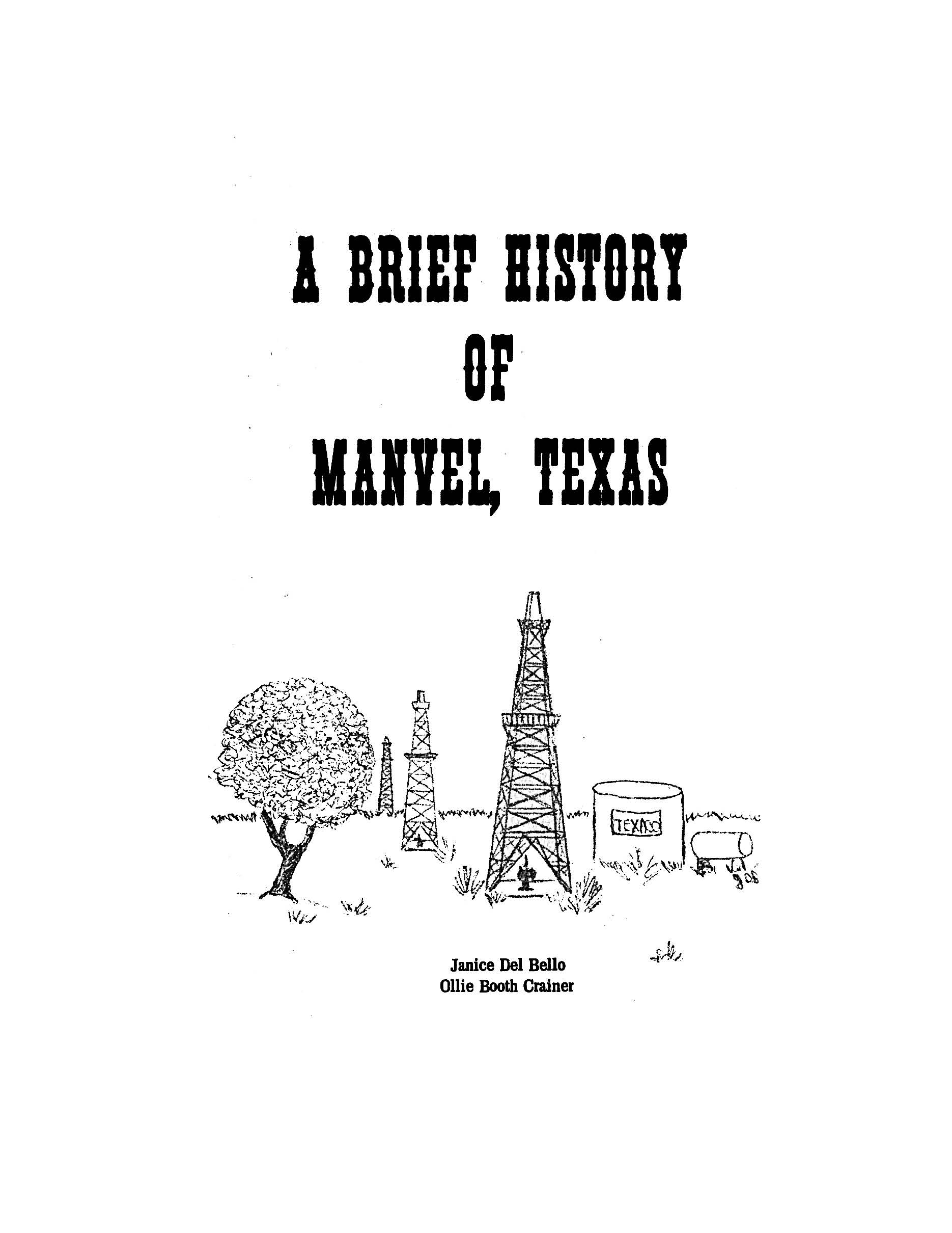 1976 A Brief History of Manvel Del Bello Ollie Booth Crainer 1